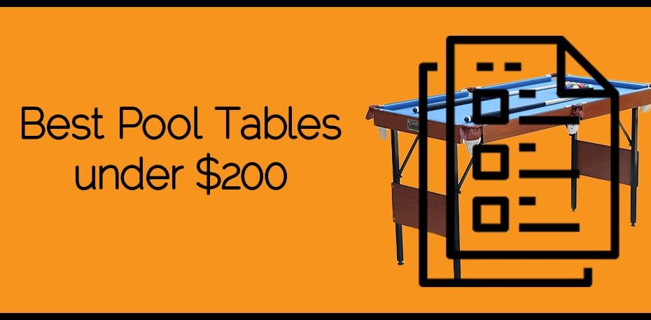 Best Pool Tables under $200
