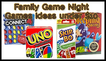Family Game Night Games Ideas under 10 USD