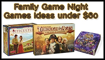 Family Game Night Games Ideas under 60 USD