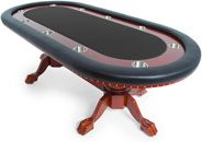 BBO Poker Table Rockwell for 10 Players, 94 x 44-Inch Oval