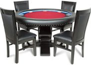 BBO Poker Table Set Ginza with 4 Dining Chairs 58-Inch Round