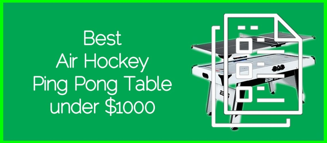Best Air Hockey Ping Pong Table under $1000