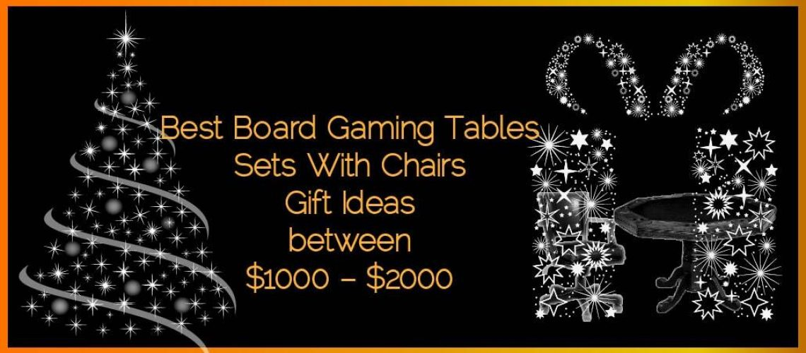 Best Board Gaming Tables Sets With Chairs Gifts Ideas Between $1000 – $2000