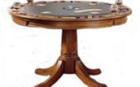 Bowery Hill Game Table in Medium Brown Oak