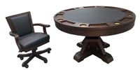 Playcraft Brazos River 3-In-1 Pedestal Table with Chairs