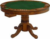 Coaster Mitchell Round Pedestal Dining Table in Amber