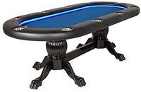 Elite Alpha Poker Table with Suited Speed Playing Surface & Dining Top