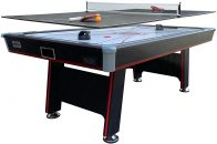 PUCK Atlas 7ft Air Hockey Table with Table Tennis