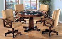 Bowery Hill 5 Piece Dining Set in Tobacco and Tan