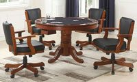 Bowery Hill 5 Piece Round Dining Set in Merlot